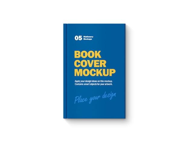 Bovenaanzicht op hardcover boekmodel