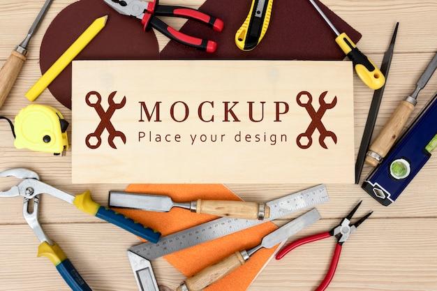 Bovenaanzicht van constructie toold mock-up