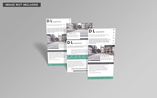 Bovenaanzicht van flyer brochure mockup