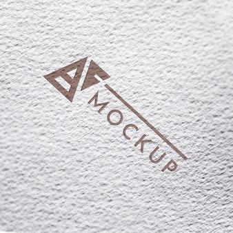 Bovenaanzicht van grof papier mock-up voor bedrijven