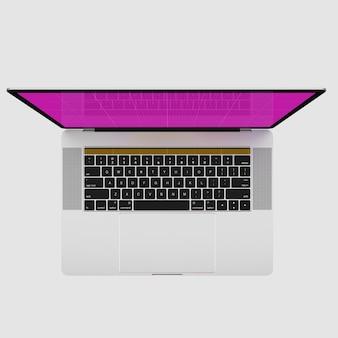 Bovenaanzicht van laptop mockup