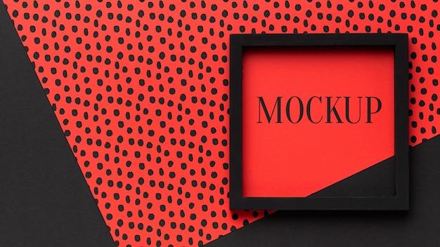 Bovenaanzicht van mock-up frame-ontwerp