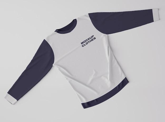 Bovenaanzicht van sweatshirtmodel