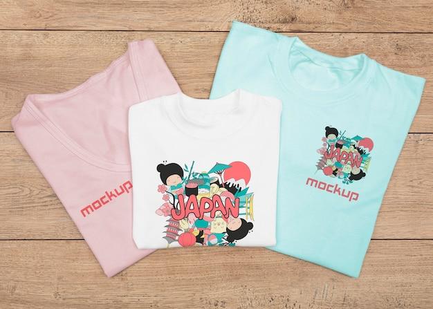 Bovenaanzicht van t-shirt concept mock-up