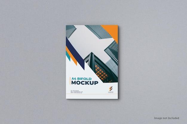Bovenaanzicht van tweevoudige brochureomslagmodel