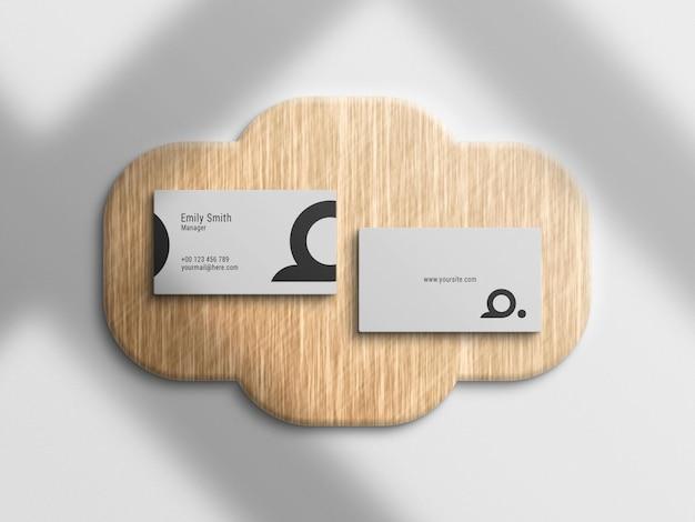 Bovenaanzicht visitekaartje logo mockup