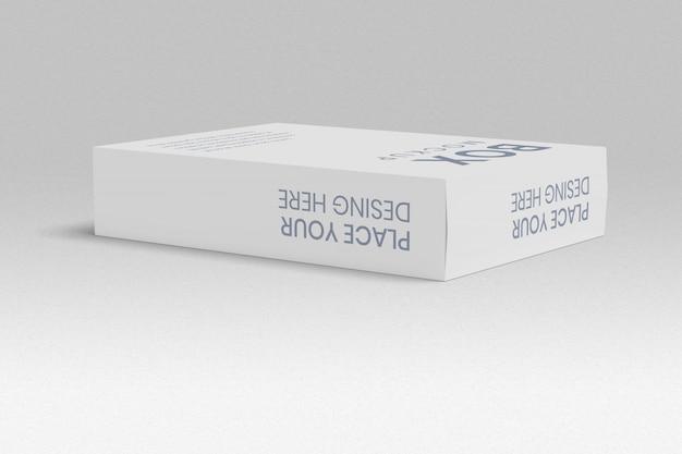 Box mockup lay-out linkerhoek