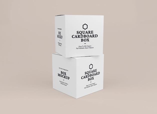 Box mockup-ontwerp in verpakkingsconcept