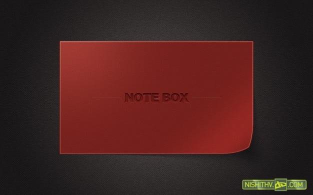 Box nota psd