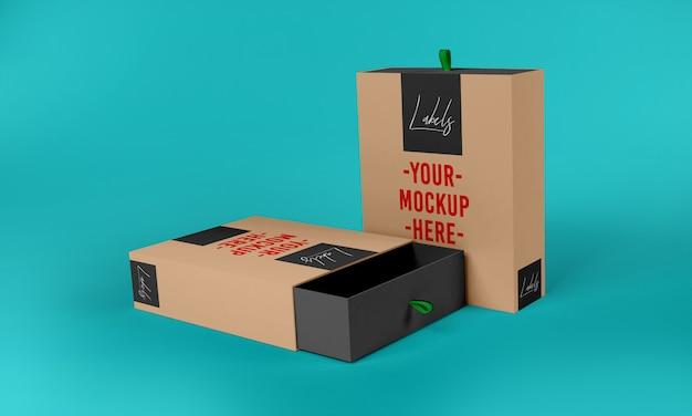 Box verpakking mockup sjabloon
