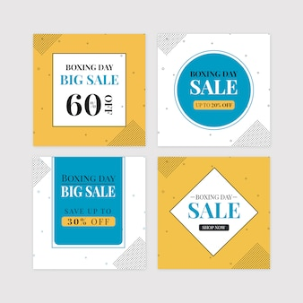 Boxing day grote verkoop banner set