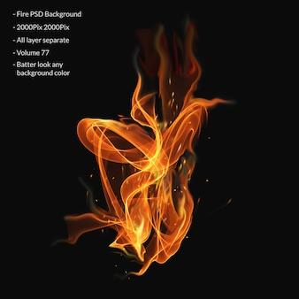 Brand vlammen effect laag