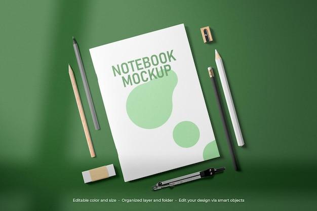 Branding briefpapier notebook mockup