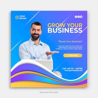 Branding bureau corporate social media post banner of vierkante flyer