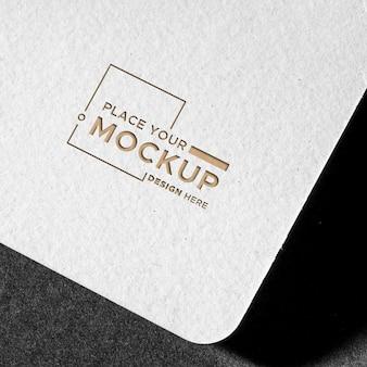 Branding identità biglietto da visita mock-up