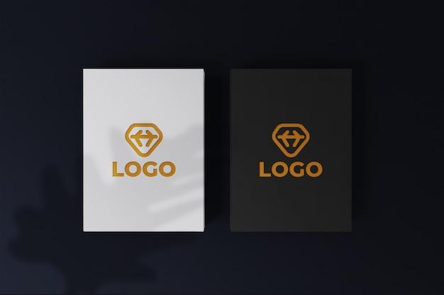 Branding identiteit visitekaartje donker ontwerp mockup