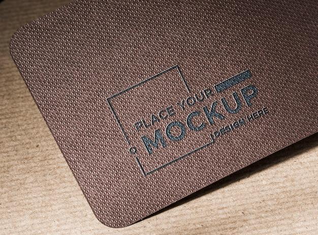 Branding identiteit visitekaartje mock-up hoog zicht
