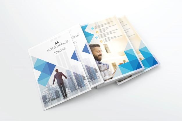 Branding mockup di stack a6 flyer
