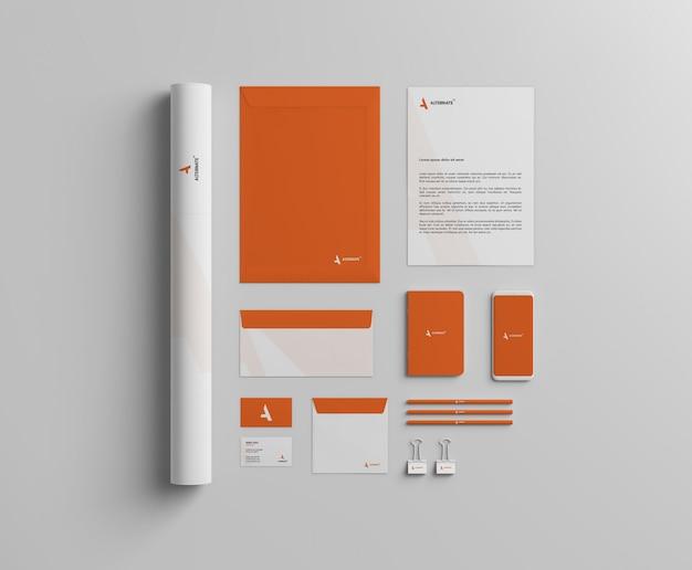 Branding mockup voor briefpapier