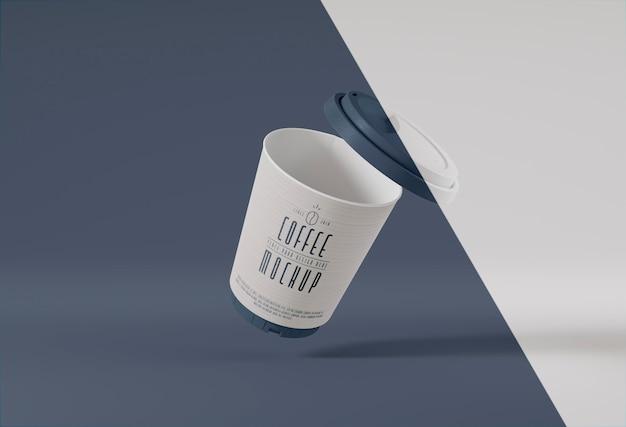 Branding van papieren koffiekopjes