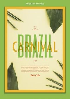 Braziliaanse carnaval poster sjabloon