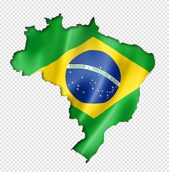 Braziliaanse vlag kaart