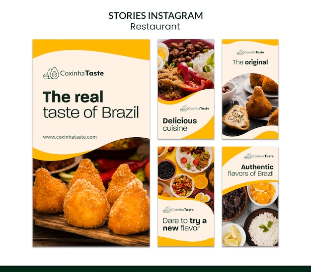 Braziliaanse voedsel instagram-verhalen