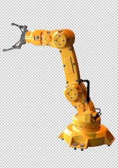 Brazo robótico industrial aislado. equipos utilizados en la industria automotriz.
