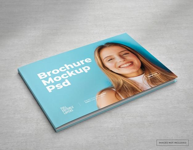 Breed brochuremodel met bewerkbare lagen en veranderlijke kleuren