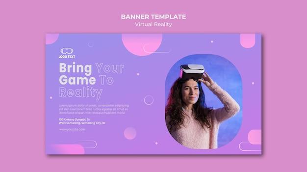 Breng je game in een sjabloon voor een virtual reality-bannermodel