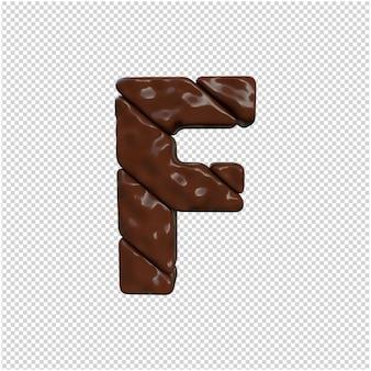 Brief gemaakt van chocolade 3d-rendering