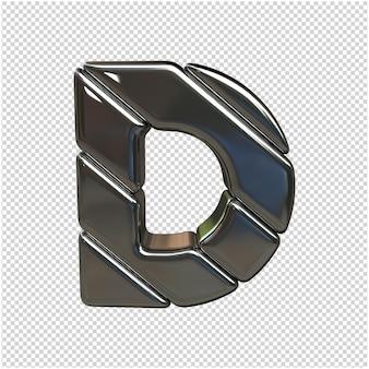 Brief gemaakt van kunststof 3d-rendering geïsoleerd