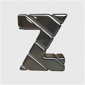 Brief gemaakt van zilver 3d-rendering geïsoleerd