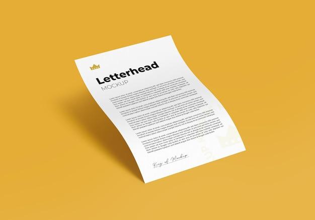 Briefhoofd mockup a4 flyer ontwerp rendering