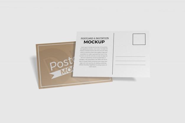 Briefkaart en uitnodiging mockup