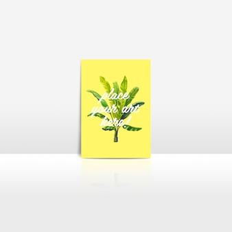 Briefkaart mock up ontwerp