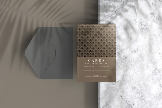 Briefkaart of uitnodigingskaartmodel