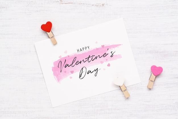 Briefkaart voor valentijnsdag