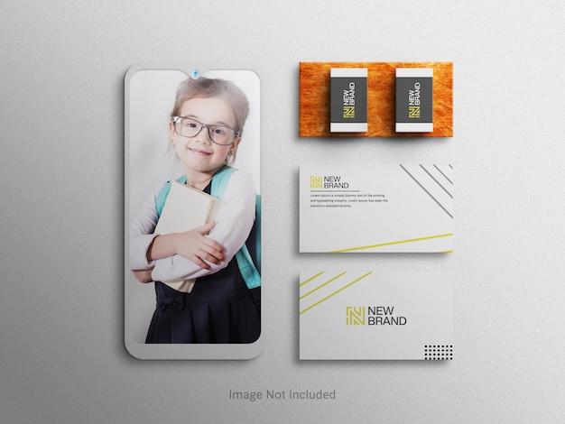 Briefpapier branding corporate company branding identiteit bovenaanzicht mockup sjabloon
