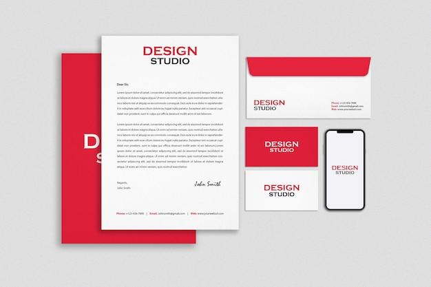Briefpapier branding identiteit mockup ontwerp