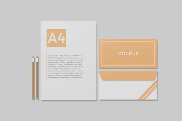 Briefpapier branding mockup