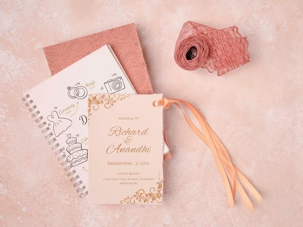 Briefpapier bruiloft uitnodiging concept