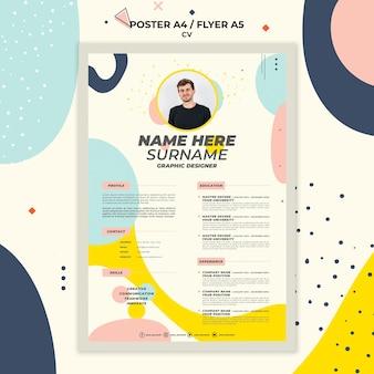 Briefpapier curriculum vitae van nieuwe werknemer