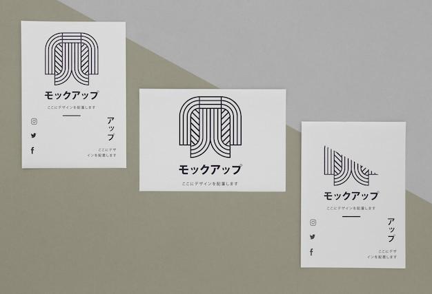 Briefpapier documenten met logo mock-up