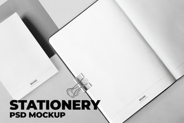 Briefpapier en notebookmodel psd