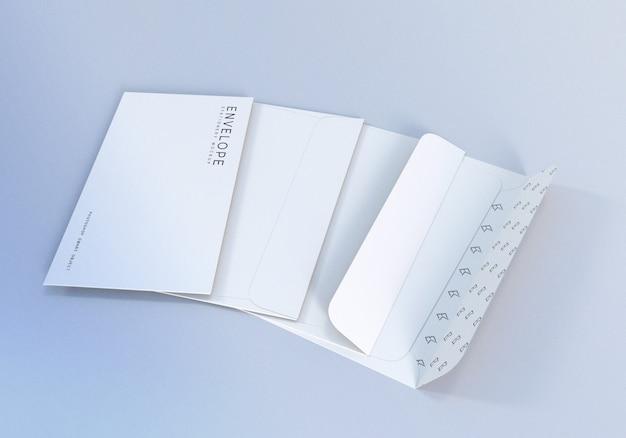 Briefpapier envelop mockup ontwerpsjabloon