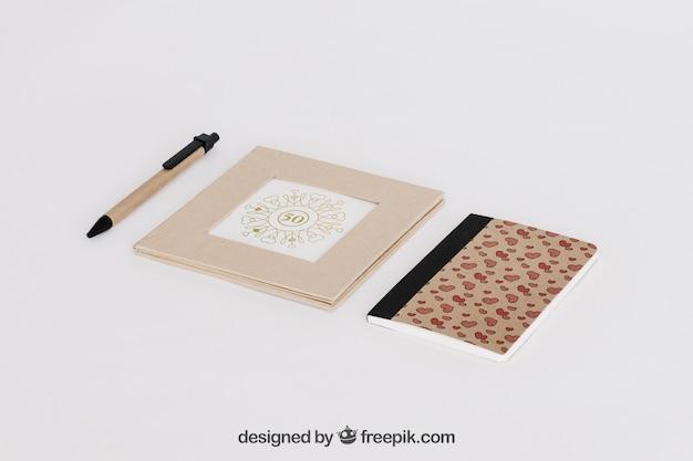 Briefpapier kartonnen concept