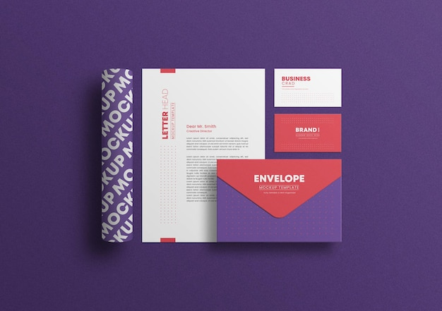 Briefpapier met envelop briefpapiermodel