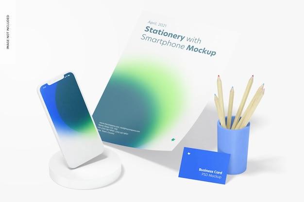 Briefpapier met smartphonemodel