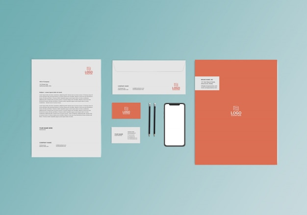 Briefpapier mock-up